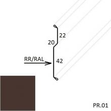 Планка примыкания внакладку Матовый полиэстер (Zn 275)