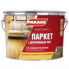 Лак алкидно-уретановый Parade Classic L10 Паркет & Деревянный пол паркетный полуматовый 10 л