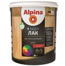Лак акриловый Alpina Аква для стен и потолков глянцевый колеруемый 10 л