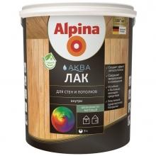 Лак акриловый Alpina Аква для стен и потолков шелковисто-матовый колеруемый 10 л