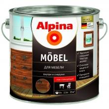 Лак акриловый Alpina Moebel для мебели глянцевый 2,5 л