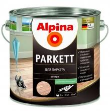 Лак паркетный Alpina Parkett шелковисто-матовый 2,5 л