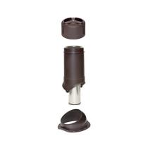 Комплект (проходка, труба, колпак) Wave 125/150 для металлочерепицы KROVENT