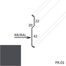 Планка примыкания внакладку Матовый полиэстер (Zn 140)