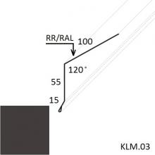 Карнизная планка Матовый полиэстер (Zn 140)