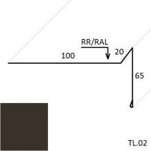 Ветровая планка (для мягкой кровли) PURAL глянцевый (Zn 275)
