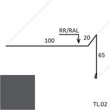 Ветровая планка (для мягкой кровли) PURAL MATT (Zn 275)
