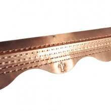 Планка для защиты кровли StopMOSS Aquasystem (медь), 1 м + 3 гвоздя ершеных омедненных